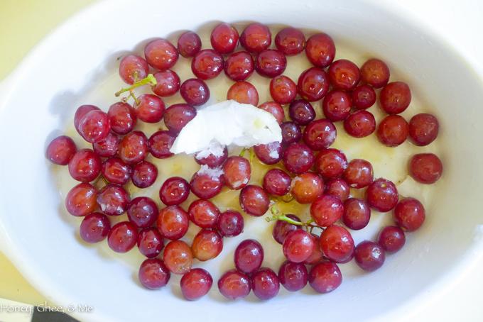 fruit tart coconut roasted grapes-41