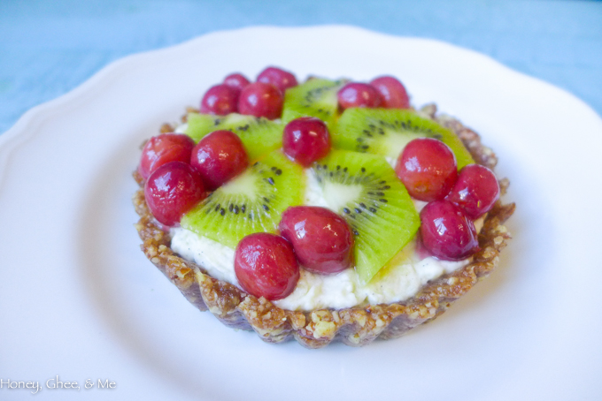 fruit tart coconut roasted grapes-56