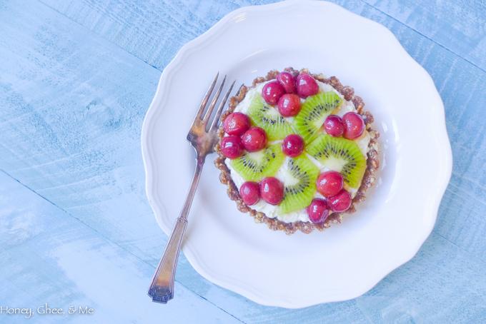 fruit tart coconut roasted grapes-62
