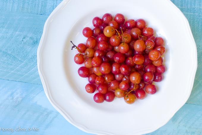 fruit tart coconut roasted grapes-71