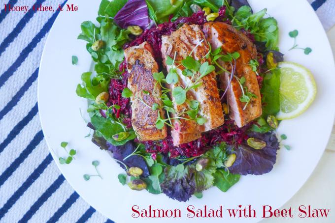 Salmon Salad & Beet Slaw