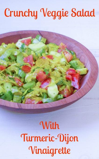 crunchy veggie salad turmeric