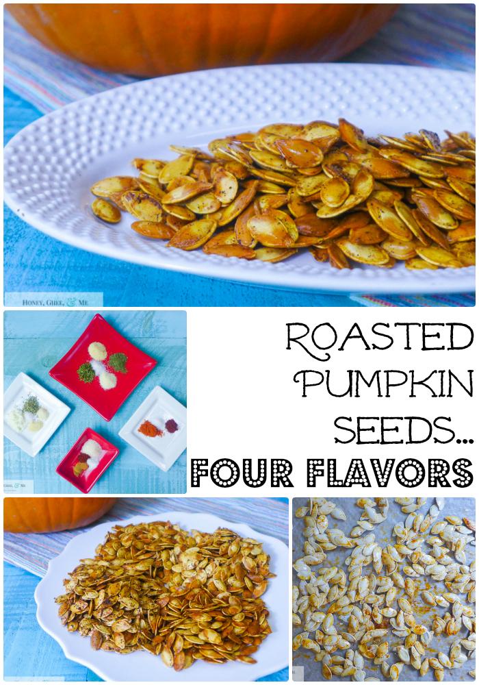 Roasted Pumpkin Seeds... Four Flavors