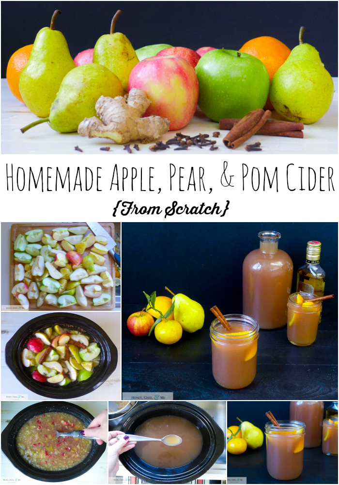 apple pear pomegranate cider