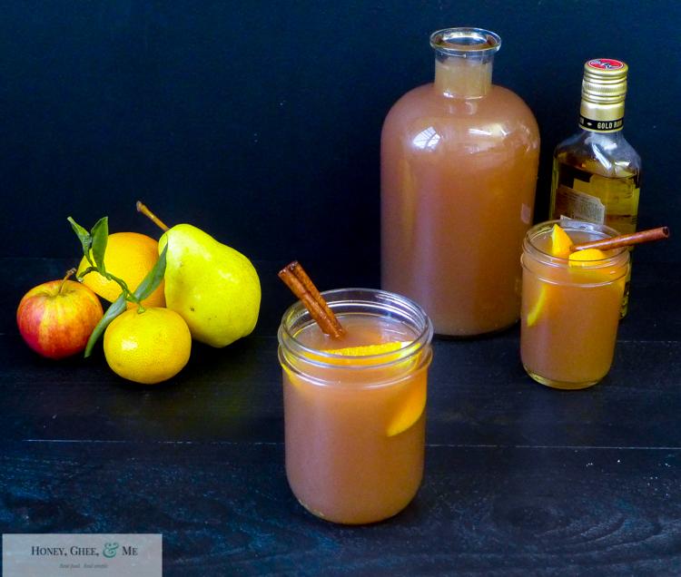 fresh homemade apple pear pomegranite cider-1-5
