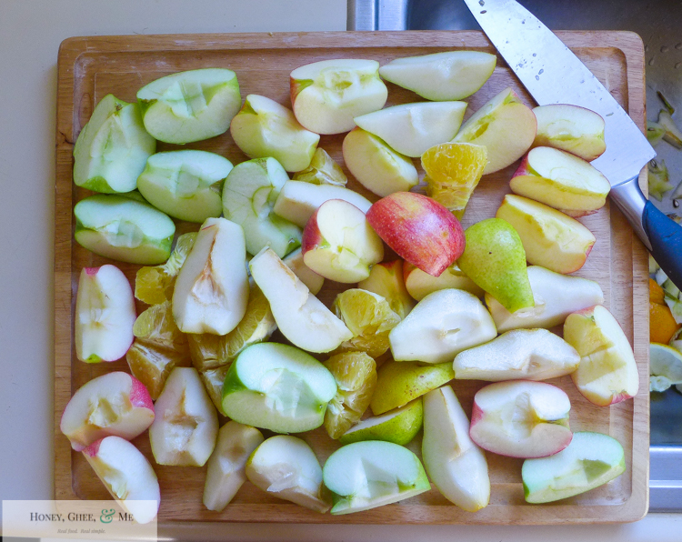 fresh homemade apple pear pomegranite cider-10