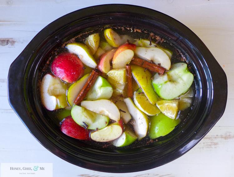 fresh homemade apple pear pomegranite cider-18