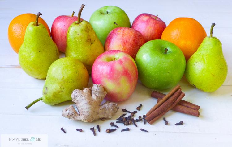 fresh homemade apple pear pomegranite cider-2