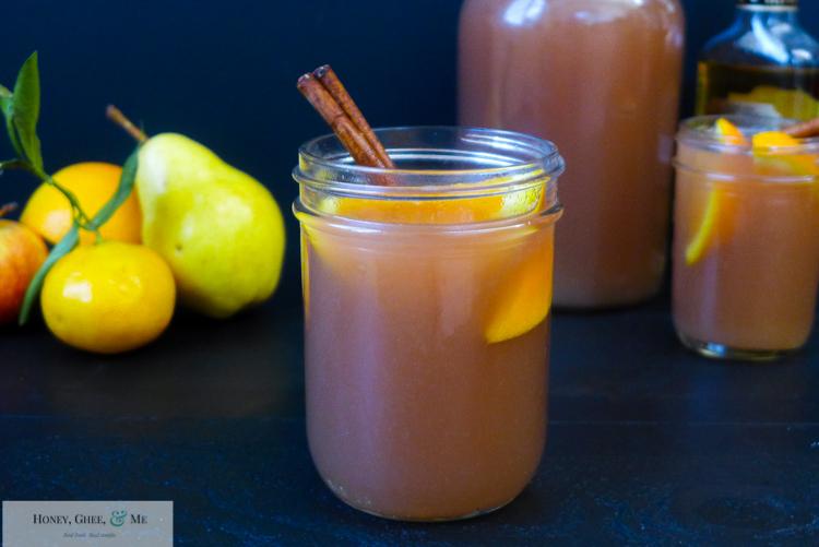 fresh homemade apple pear pomegranite cider-26