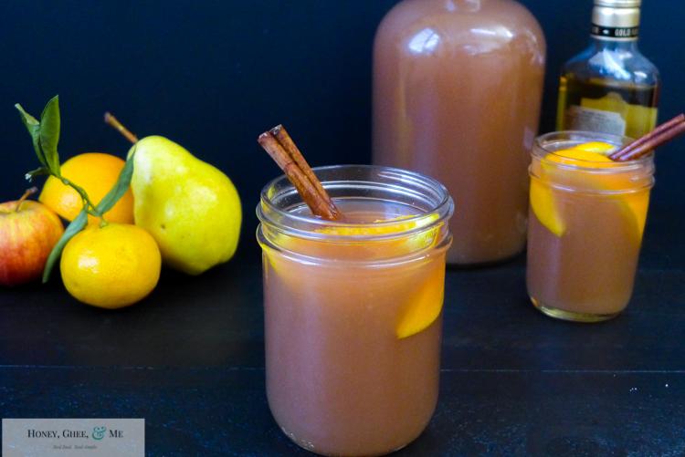 fresh homemade apple pear pomegranite cider-30