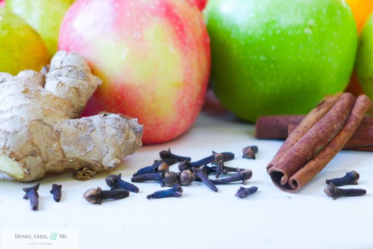 fresh homemade apple pear pomegranite cider-4