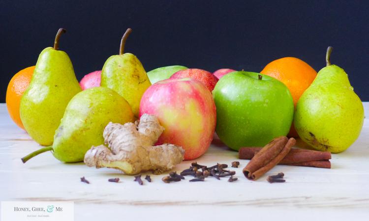 fresh homemade apple pear pomegranite cider-7