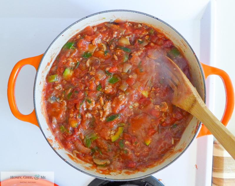 lasagna ricotta spinach paleo spaghetti squash zucchini-24
