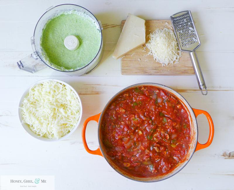 lasagna ricotta spinach paleo spaghetti squash zucchini-40