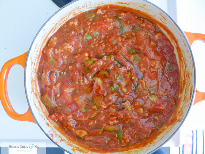 lasagna ricotta spinach paleo spaghetti squash zucchini-42
