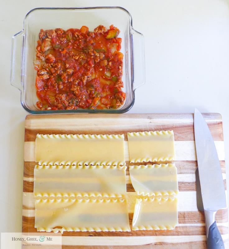 lasagna ricotta spinach paleo spaghetti squash zucchini-48