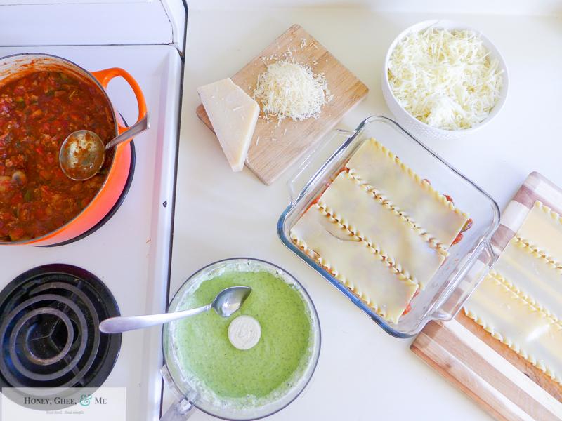 lasagna ricotta spinach paleo spaghetti squash zucchini-51