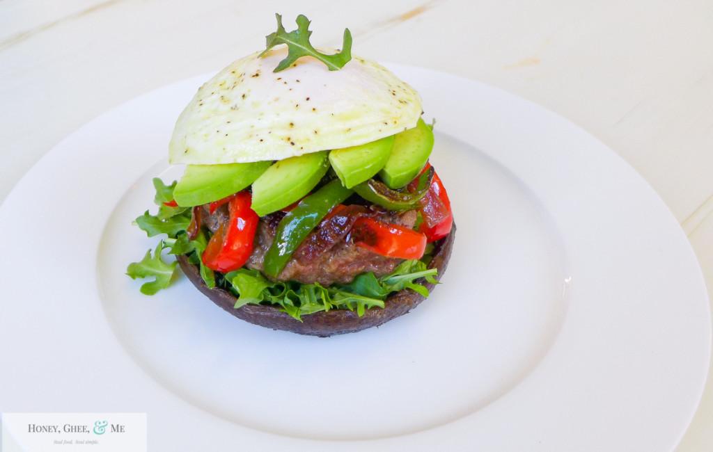 portabella mushroom burger paleo -1