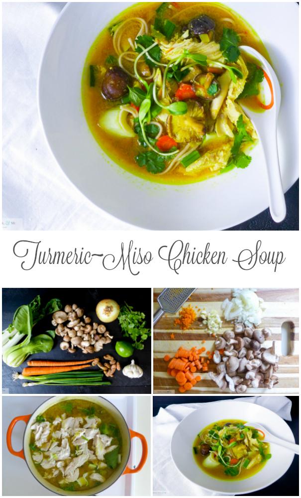 turmeric miso chicken soba soup