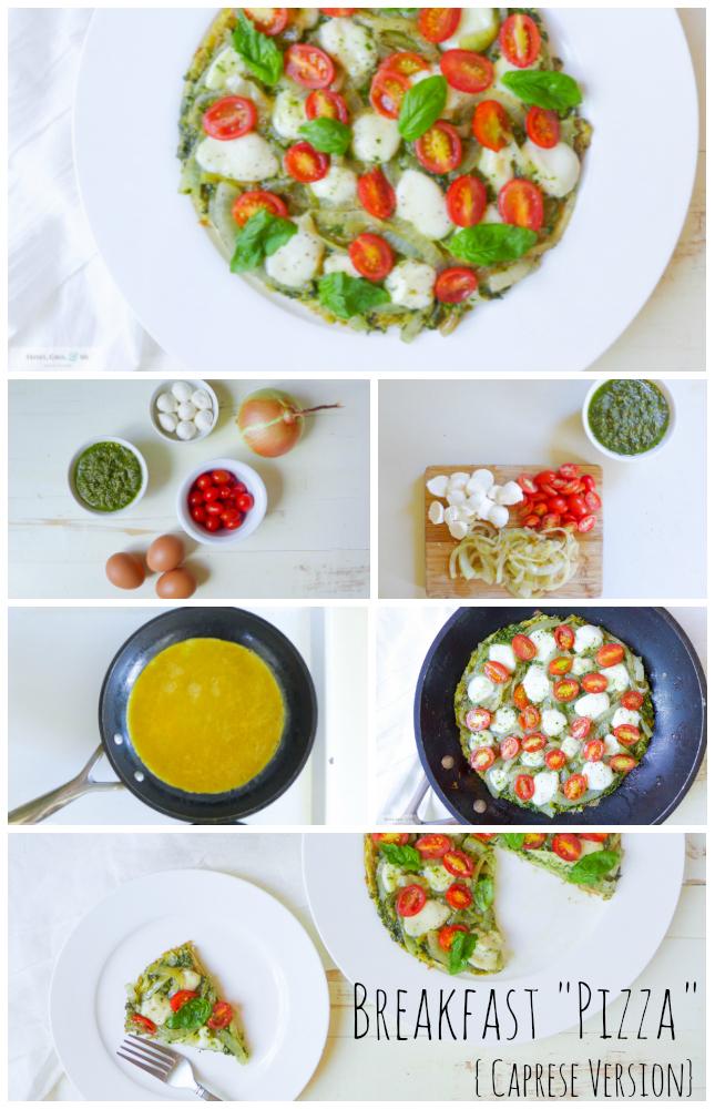 Breakfast Pizza Egg Caprese Paleo