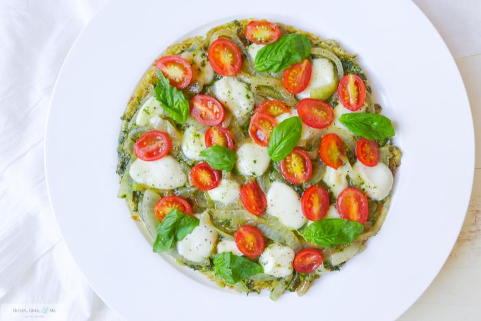 breakfast pesto omelet pizza frittata-24