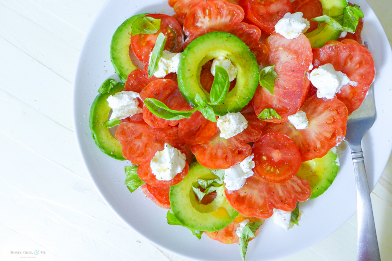 Tomato Salad Basil Heirloom Ricotta Avo-12