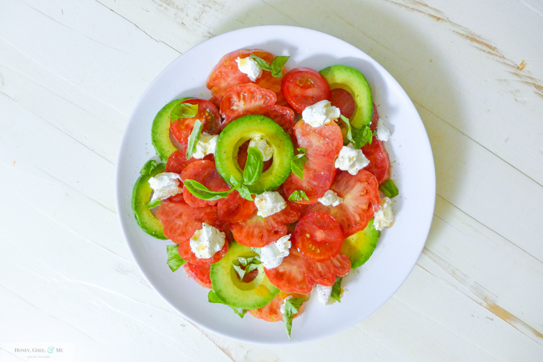 Tomato Salad Basil Heirloom Ricotta Avo-7
