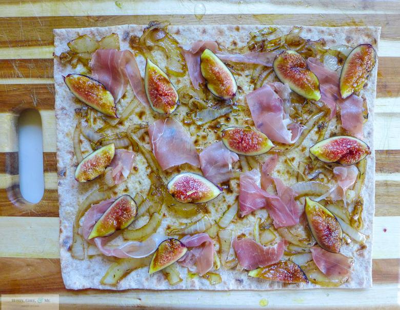 fig prosciutto goat cheese pizza flatbread-32