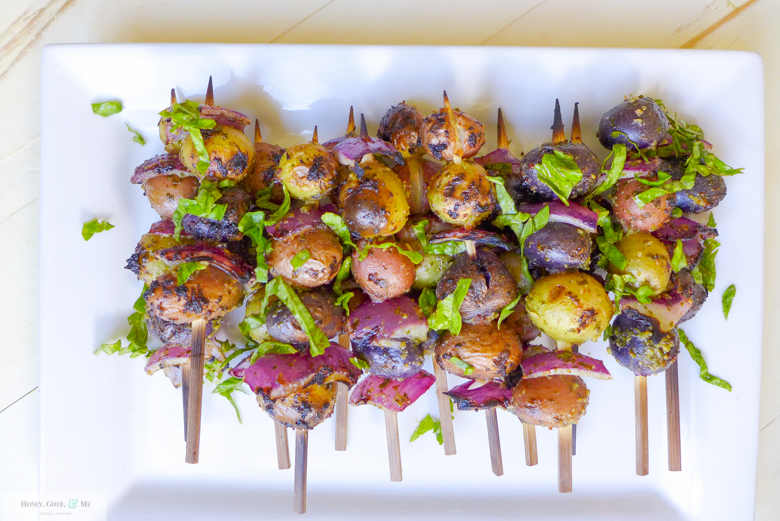 grilled apricots and potato skewers -28
