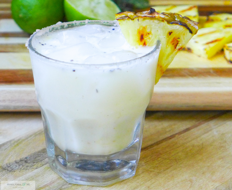 grilled pineapple margarita coconut jalapeno mint-19