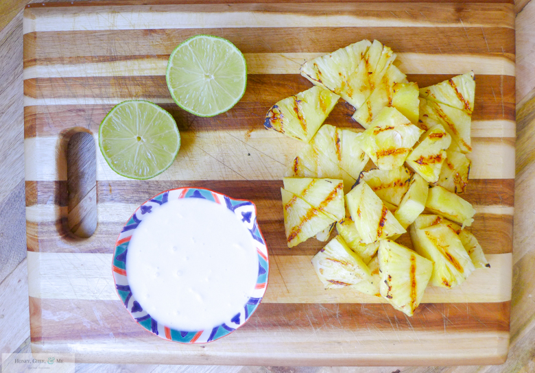 grilled pineapple margarita coconut jalapeno mint-5
