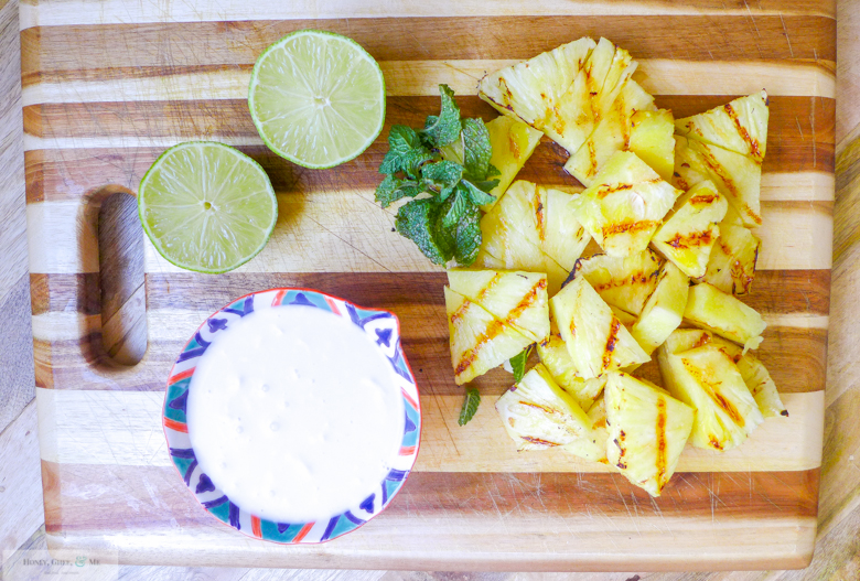 grilled pineapple margarita coconut jalapeno mint-6